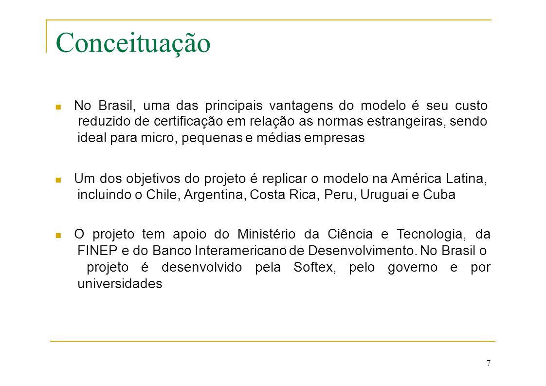 Conceituação  No Brasil, uma das principais vantagens do modelo é seu custo. reduzido de certificação em relação as normas estrangeiras, sendo.