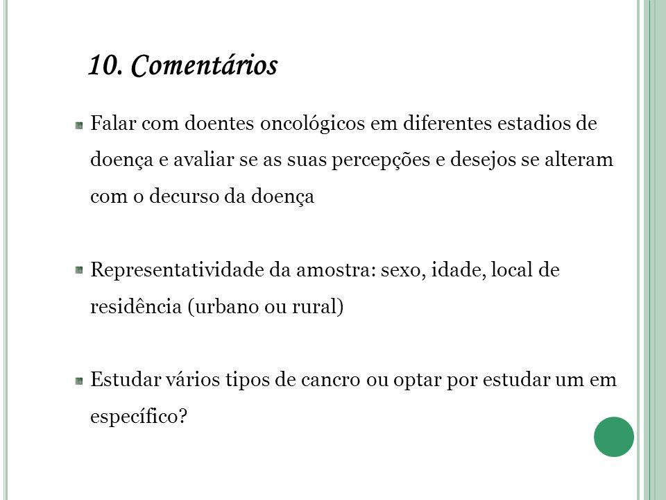 10. Comentários