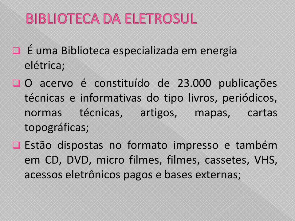BIBLIOTECA DA ELETROSUL