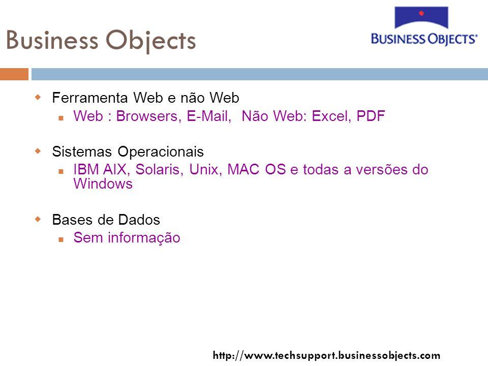 Business Objects Ferramenta Web e não Web