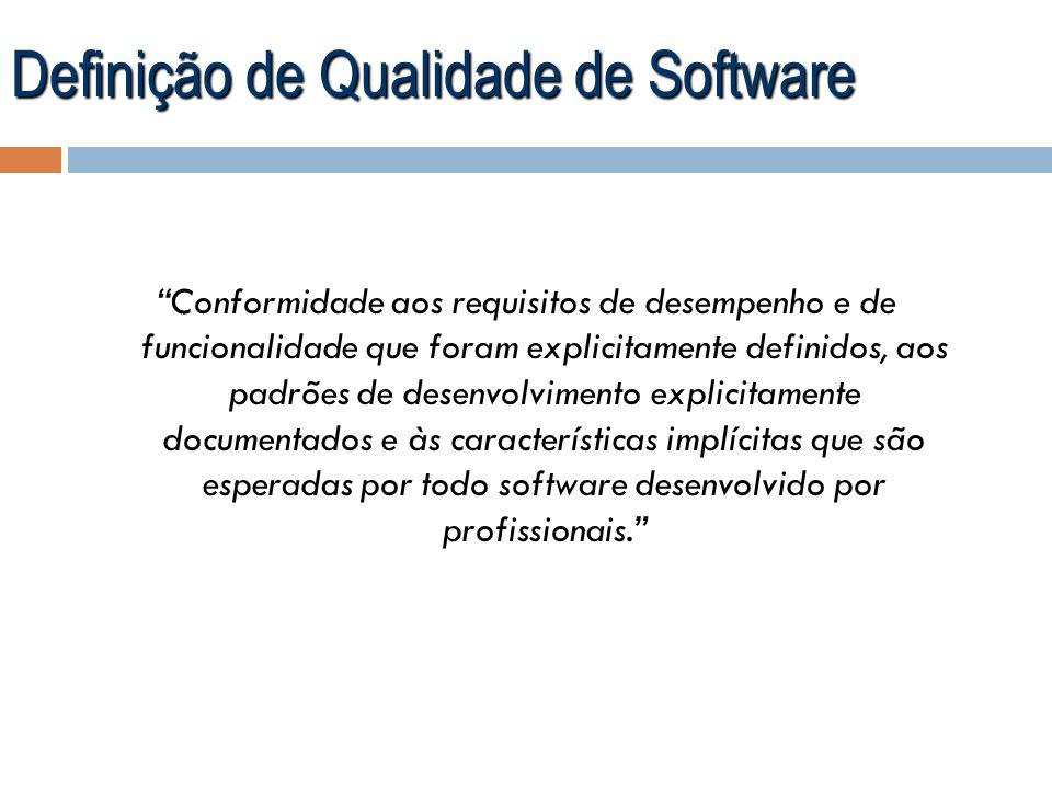 Definição de Qualidade de Software