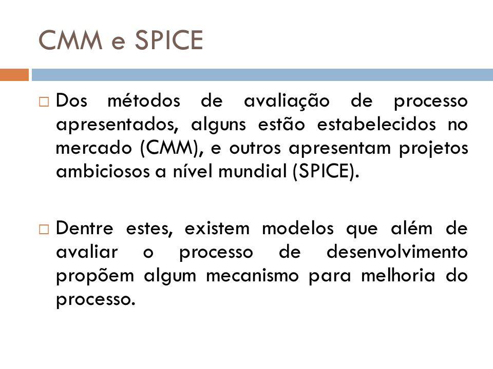 CMM e SPICE