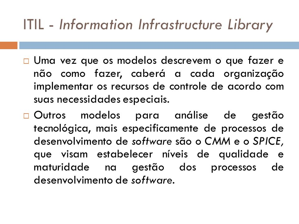 ITIL - Information Infrastructure Library