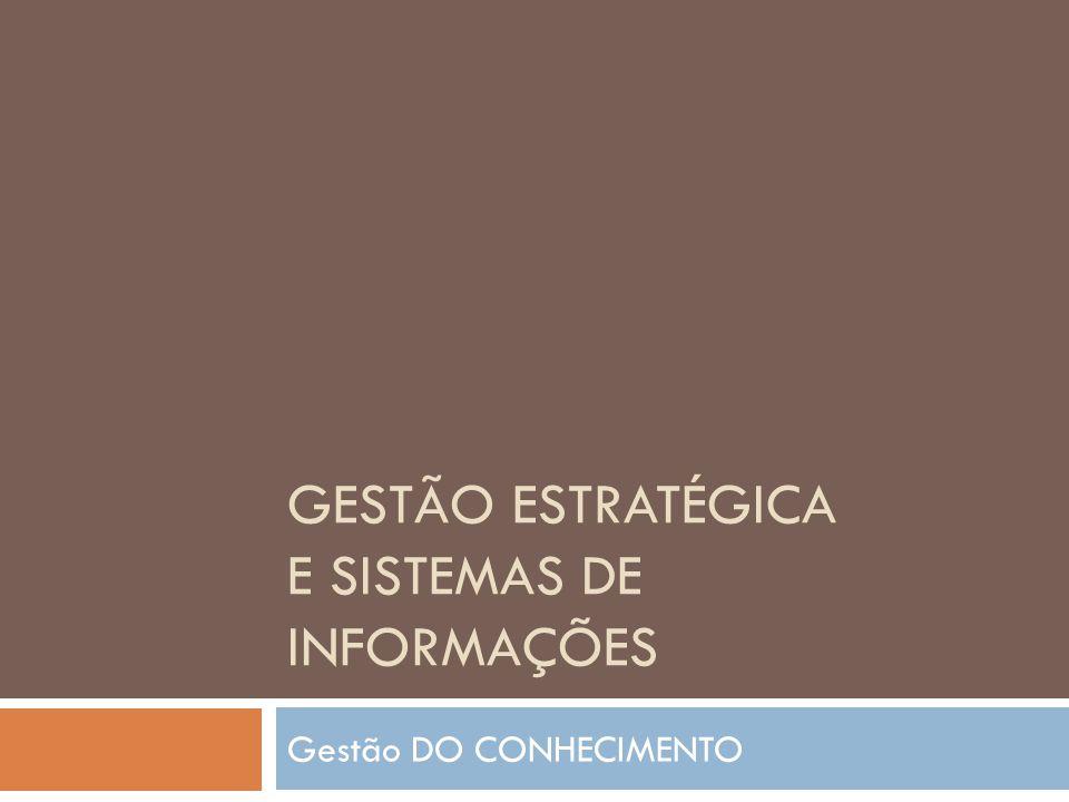 Gestão Estratégica e Sistemas de Informações