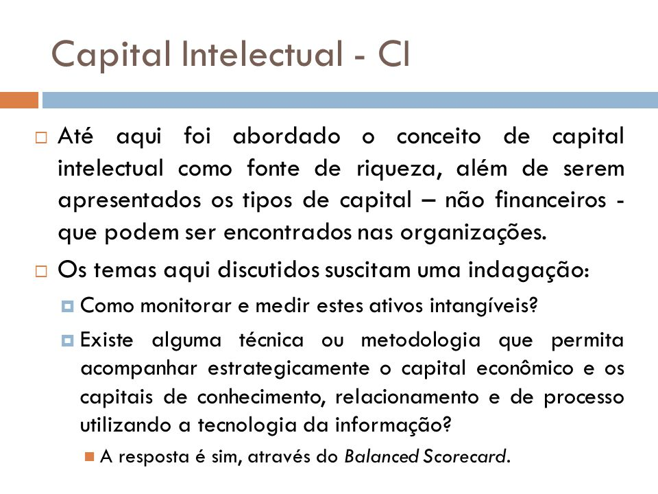 Capital Intelectual - CI