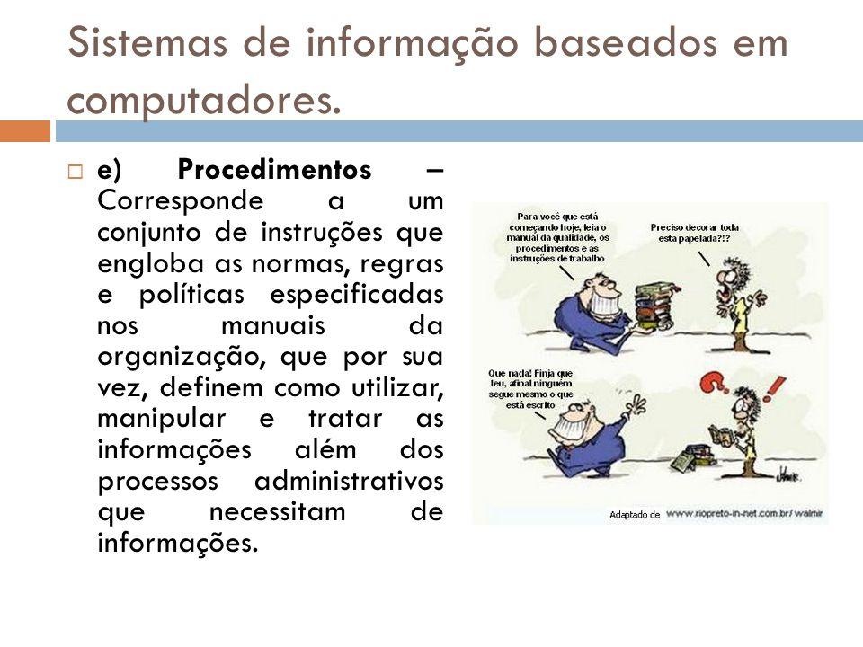 Sistemas de informação baseados em computadores.