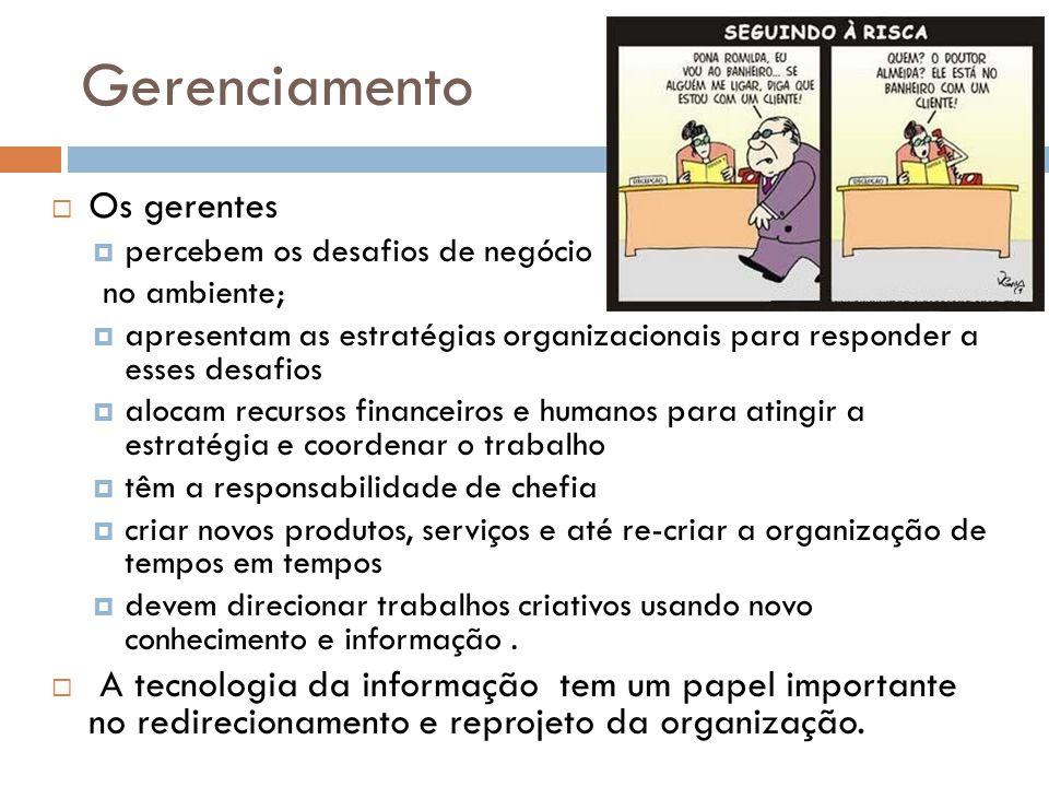 Gerenciamento Os gerentes