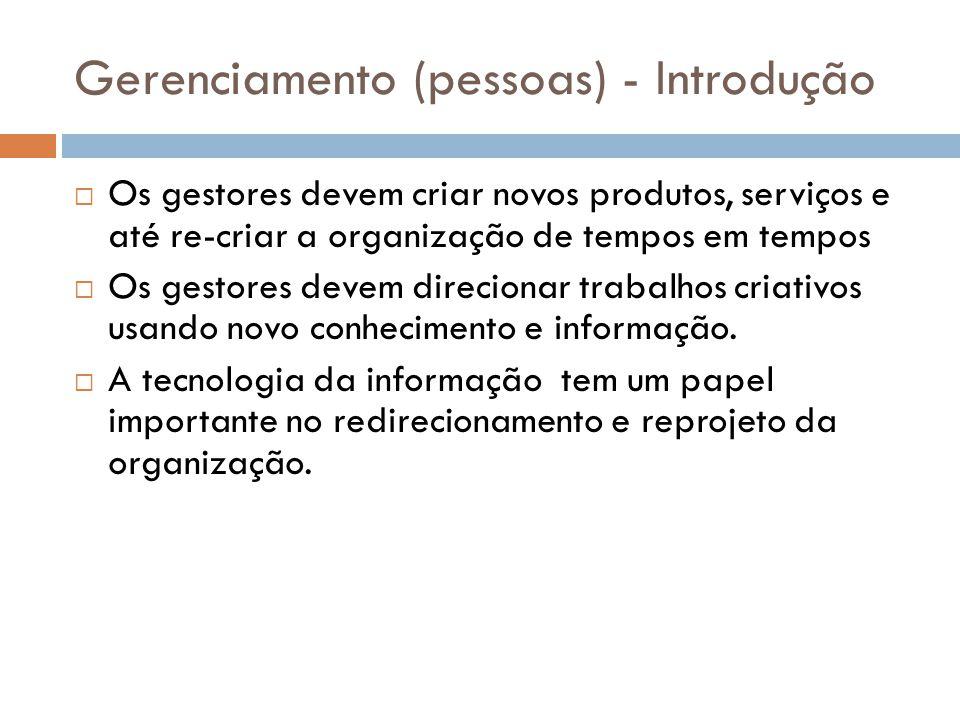 Gerenciamento (pessoas) - Introdução