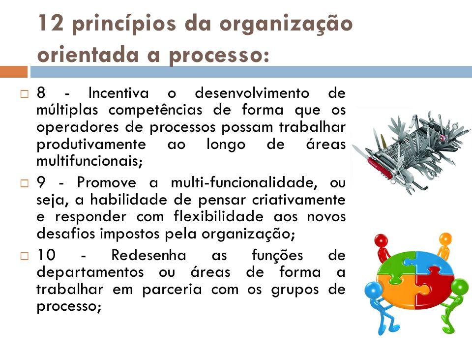 12 princípios da organização orientada a processo: