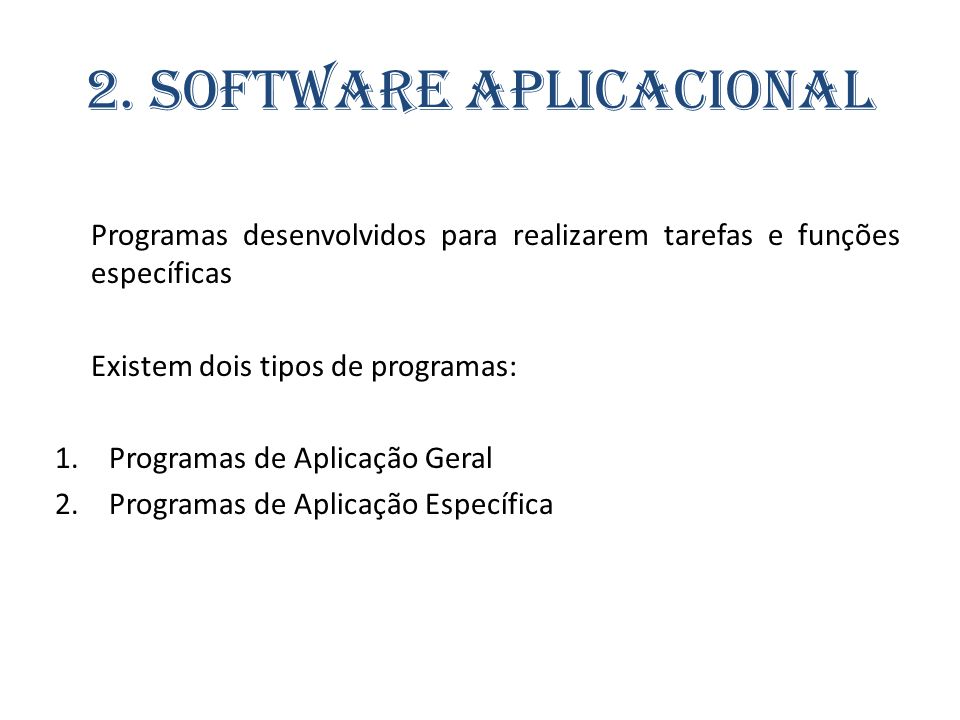 2. Software Aplicacional