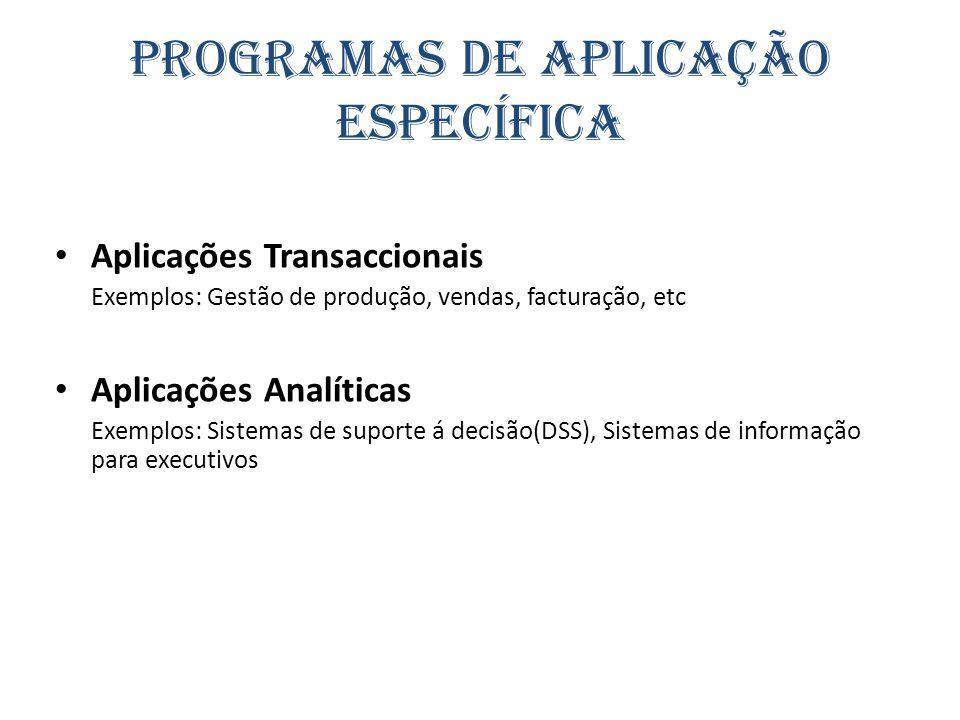 Programas de Aplicação Específica