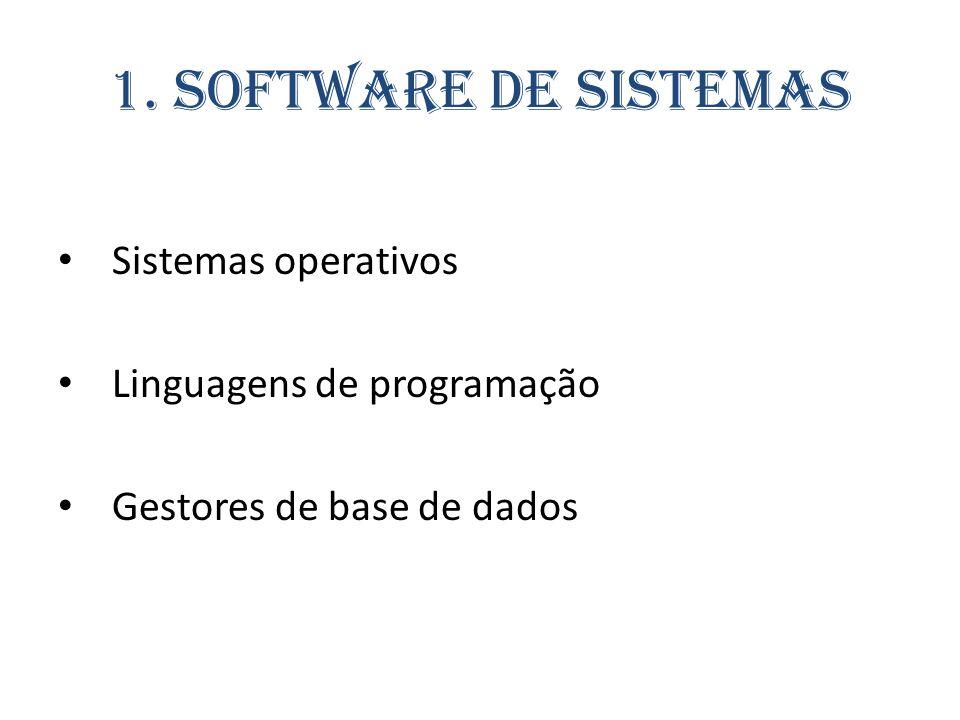 1. Software de Sistemas Sistemas operativos Linguagens de programação