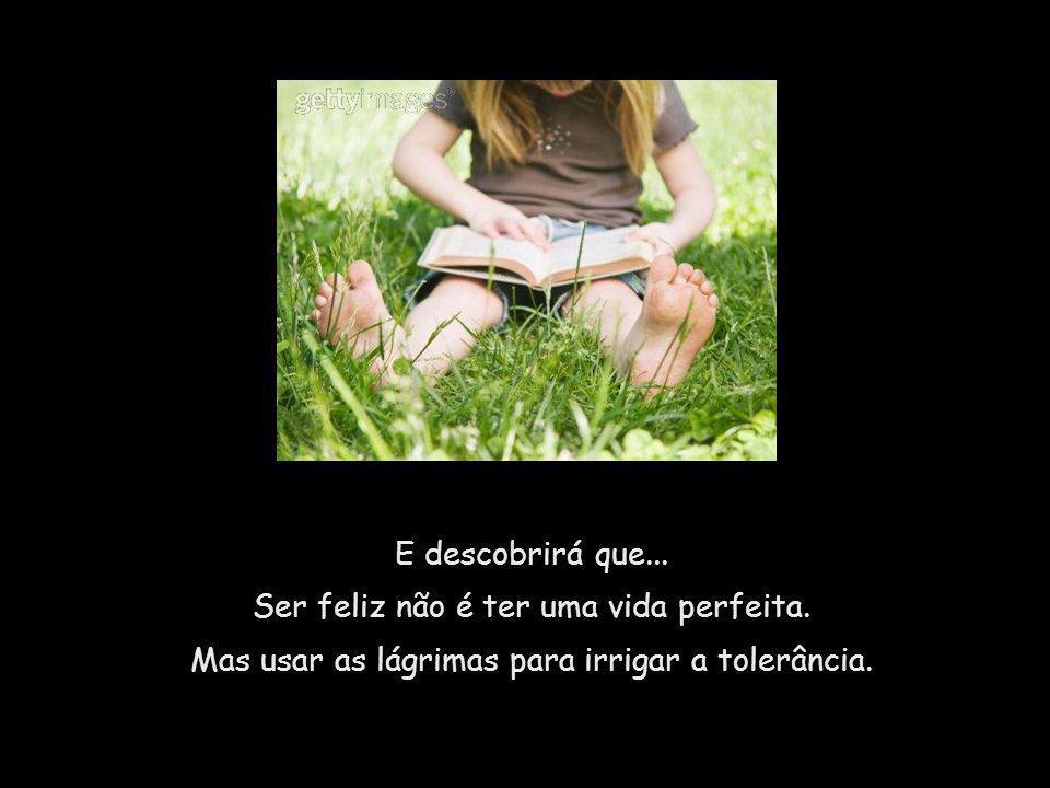 Ser feliz não é ter uma vida perfeita.