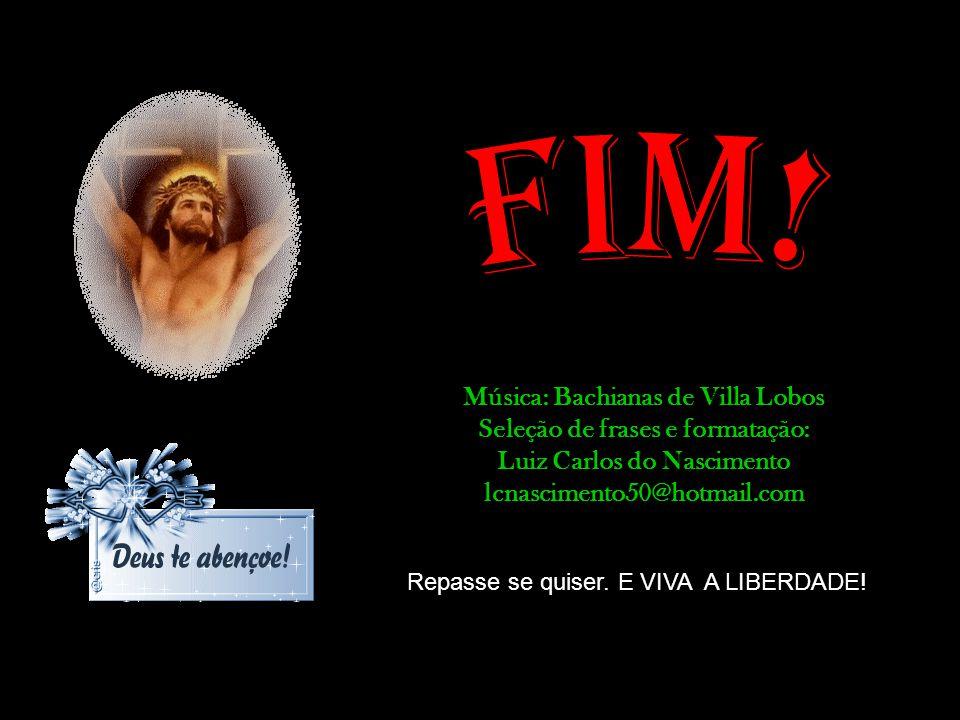 FIM! Música: Bachianas de Villa Lobos Seleção de frases e formatação: