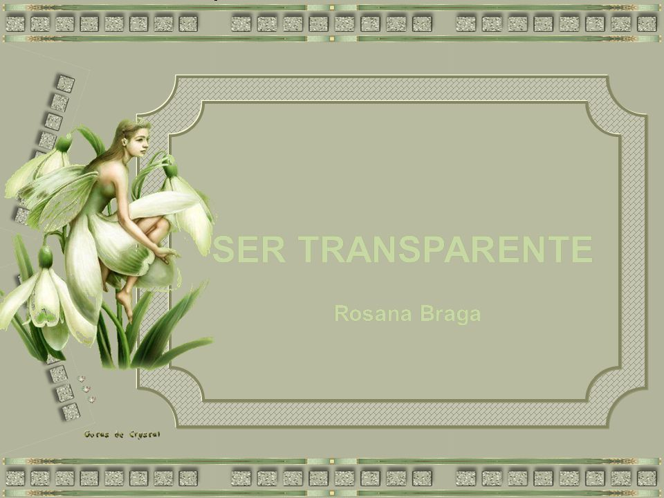SER TRANSPARENTE SER TRANSPARENTE SER TRANSPARENTE