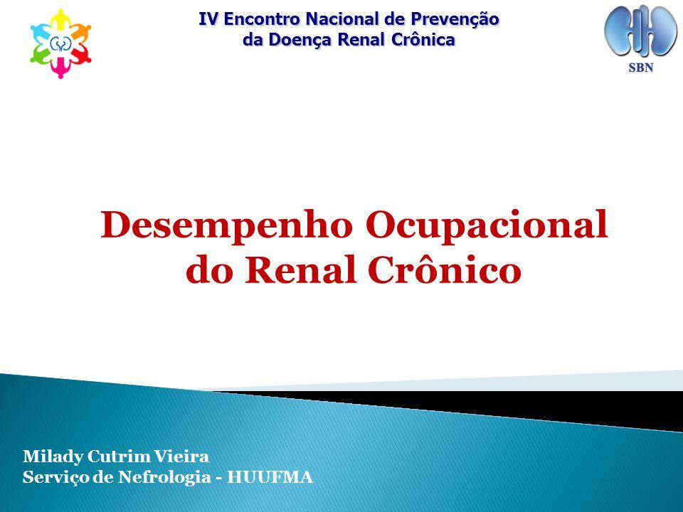 Desempenho Ocupacional do Renal Crônico