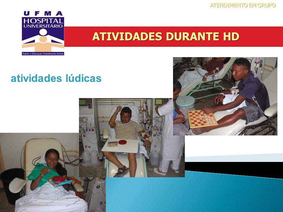 ATENDIMENTO EM GRUPO ATIVIDADES DURANTE HD atividades lúdicas 14