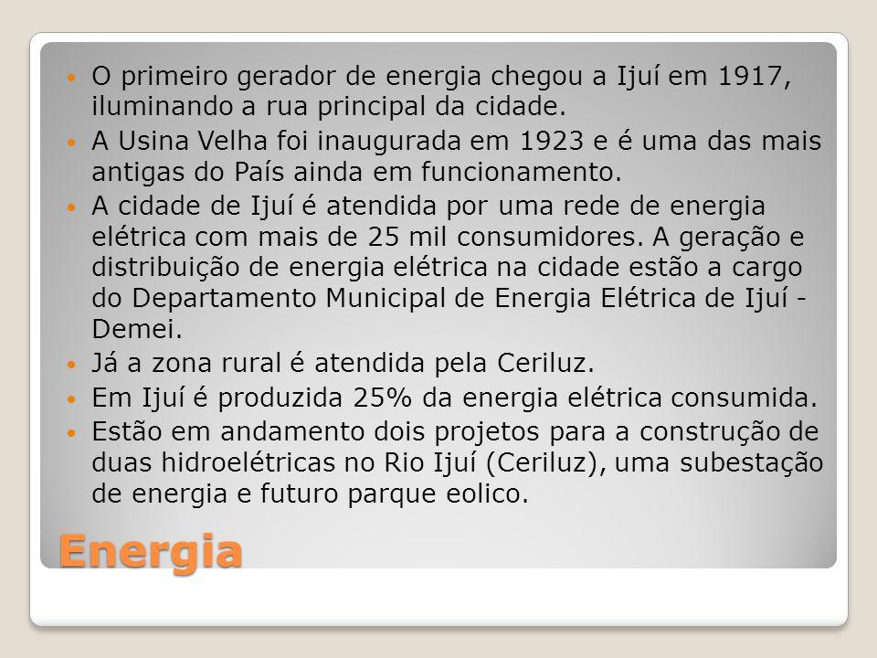 O primeiro gerador de energia chegou a Ijuí em 1917, iluminando a rua principal da cidade.