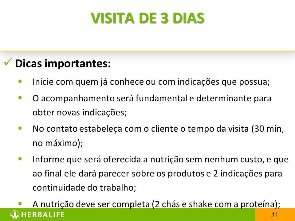 VISITA DE 3 DIAS Dicas importantes: