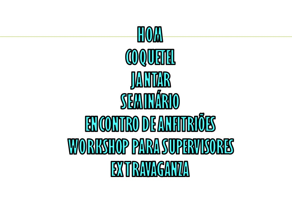 ENCONTRO DE ANFITRIÕES WORKSHOP PARA SUPERVISORES