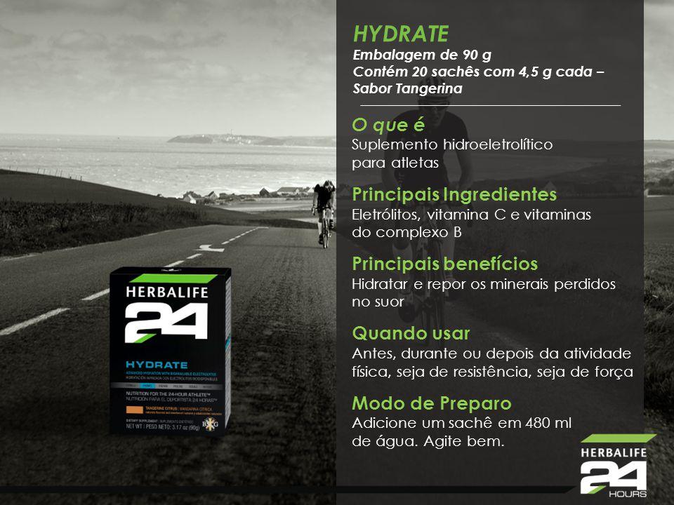 Hydrate HYDRATE O que é Suplemento hidroeletrolítico para atletas