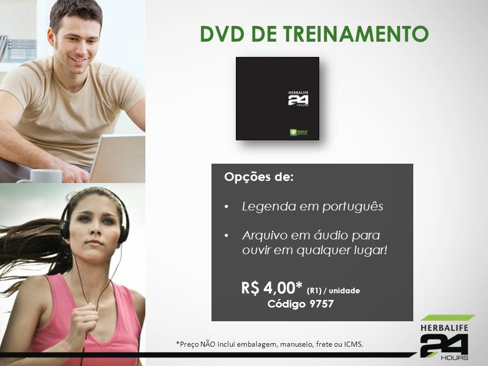 DVD DE TREINAMENTO R$ 4,00* (R1) / unidade Opções de: