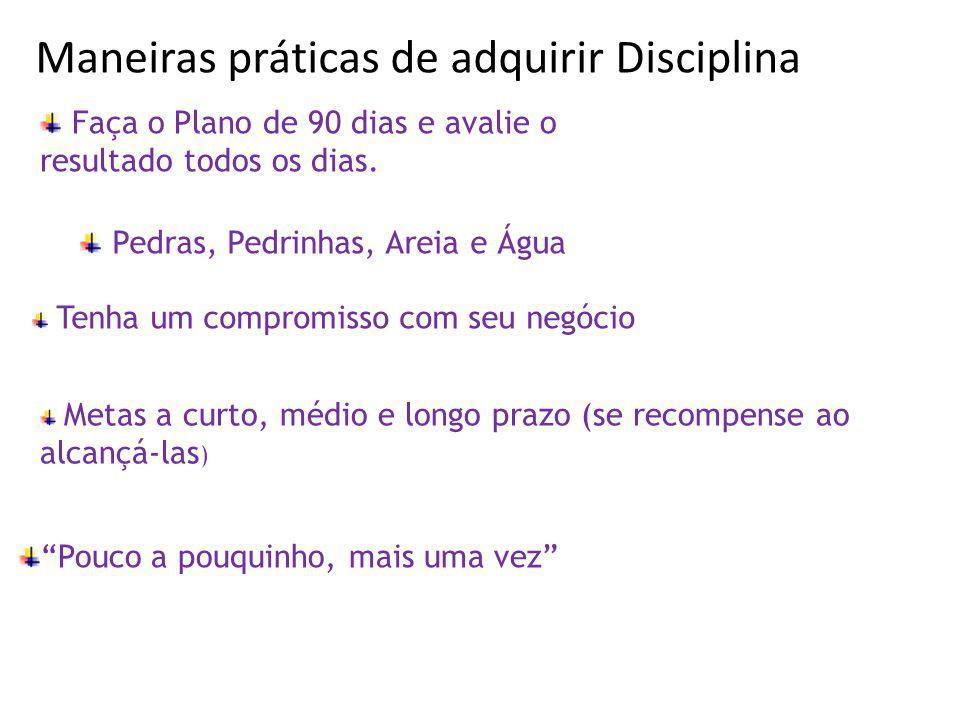 Maneiras práticas de adquirir Disciplina :