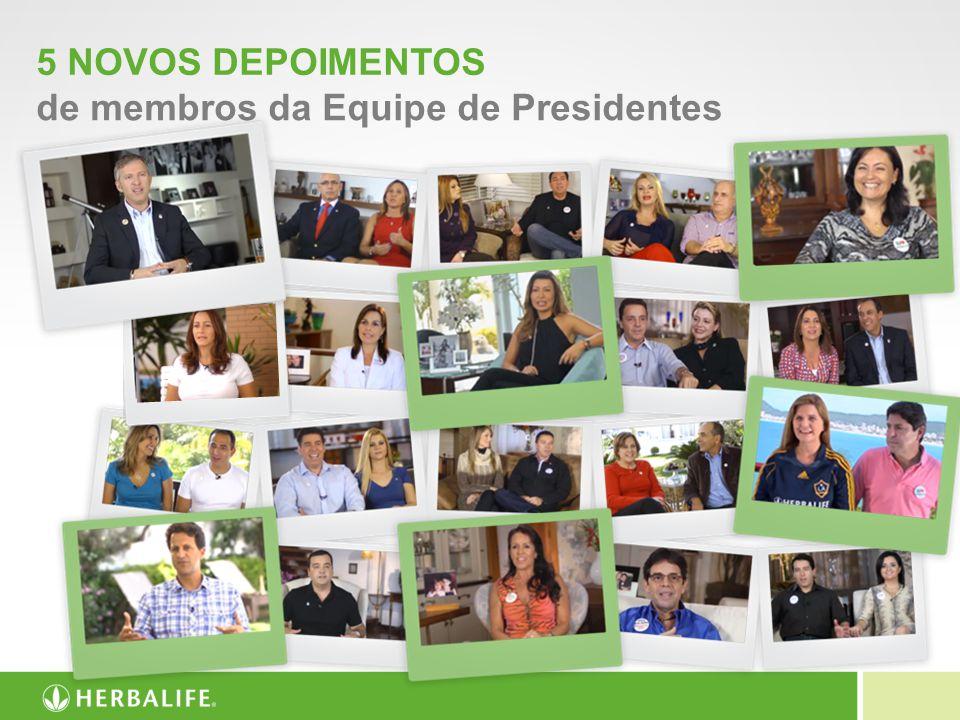5 NOVOS DEPOIMENTOS de membros da Equipe de Presidentes