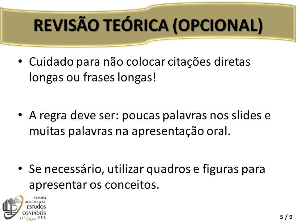 REVISÃO TEÓRICA (OPCIONAL)