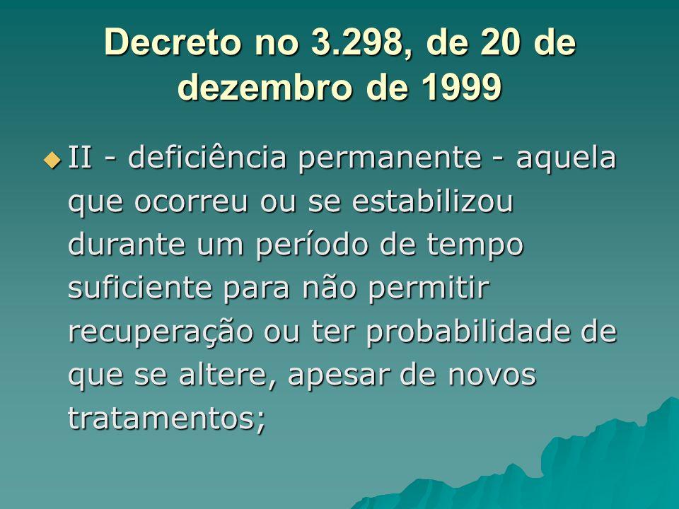 Decreto no 3.298, de 20 de dezembro de 1999