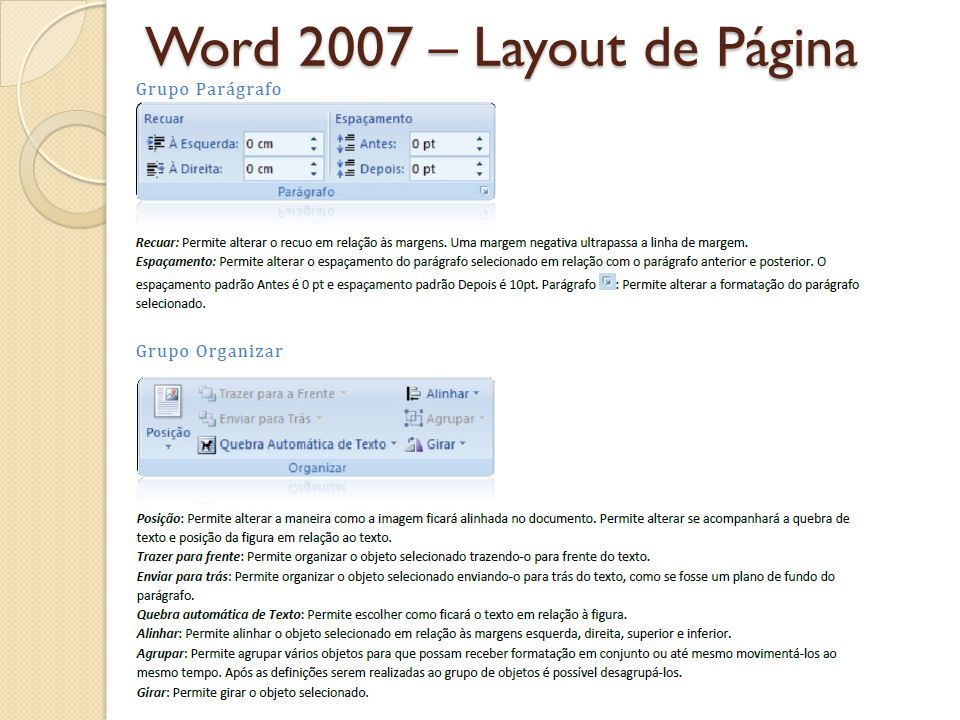 Word 2007 – Layout de Página