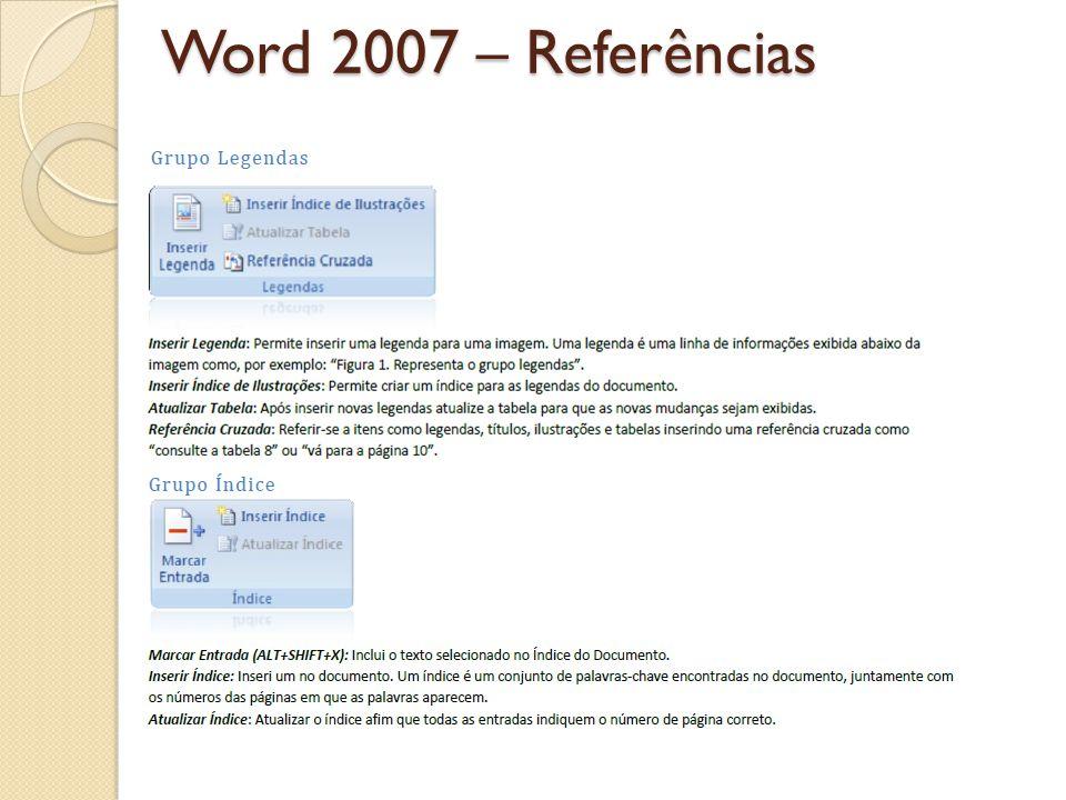 Word 2007 – Referências