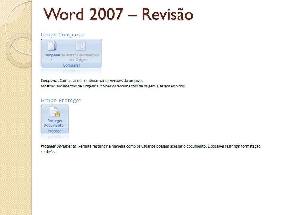 Word 2007 – Revisão