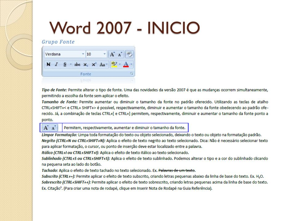 Word 2007 - INICIO