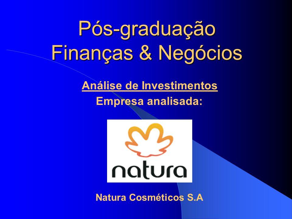 Pós-graduação Finanças & Negócios