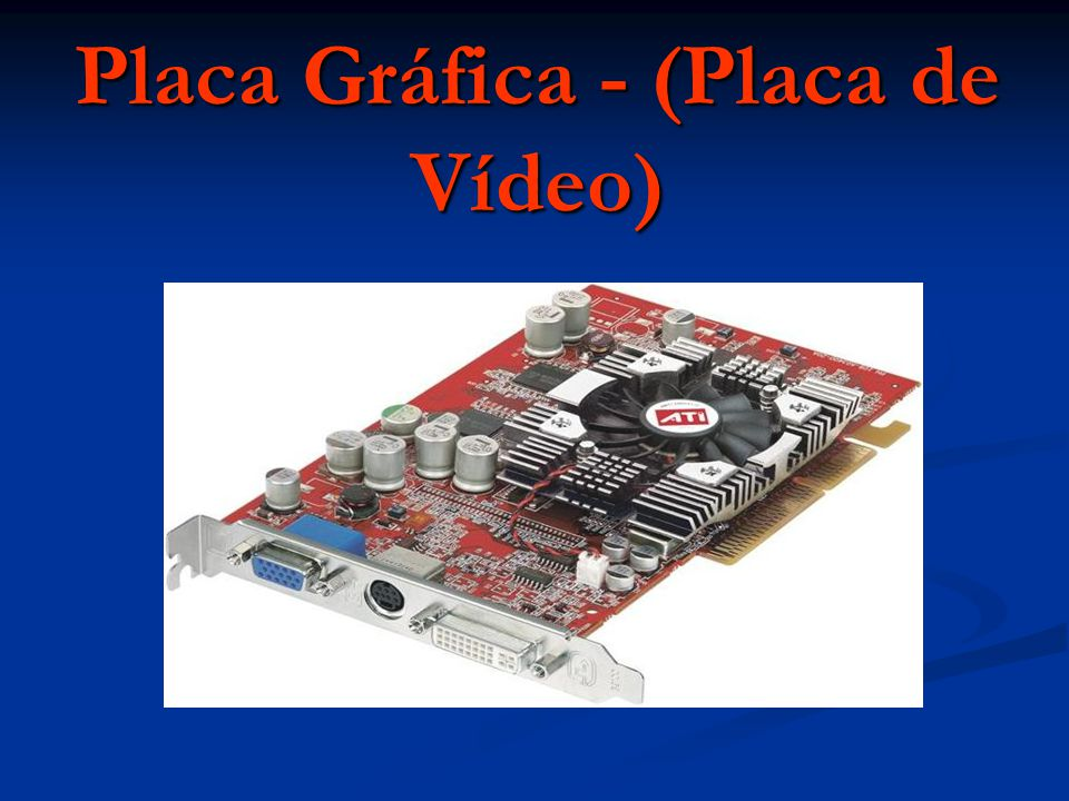 Placa Gráfica - (Placa de Vídeo)