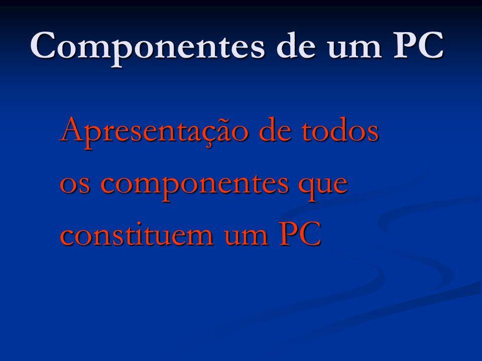 Componentes de um PC Apresentação de todos os componentes que