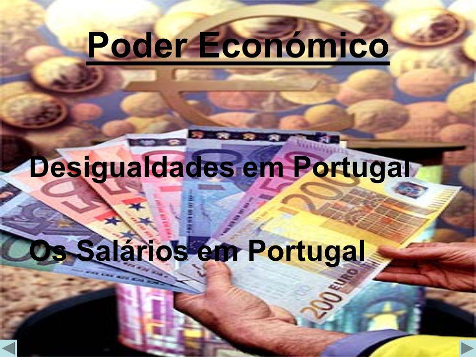 Poder Económico Desigualdades em Portugal Os Salários em Portugal
