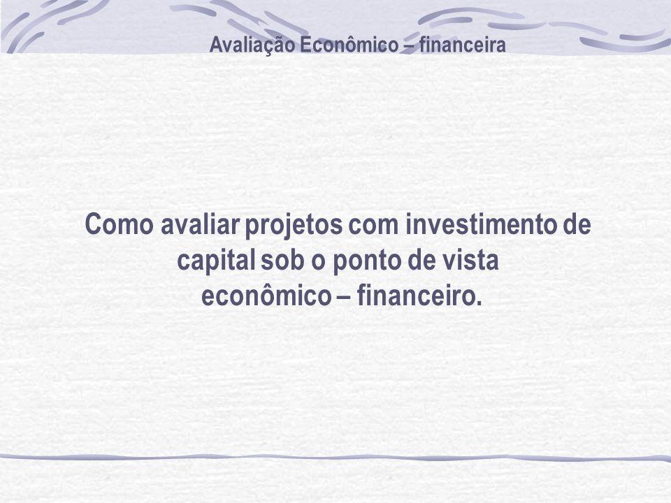 Como avaliar projetos com investimento de capital sob o ponto de vista
