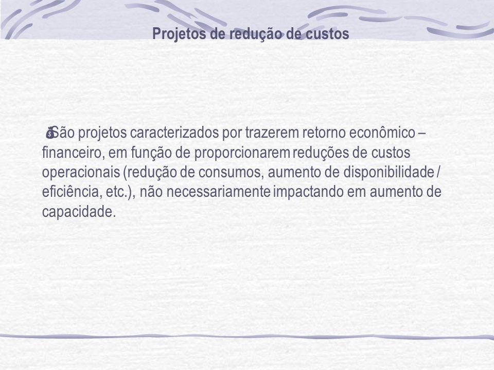 Projetos de redução de custos