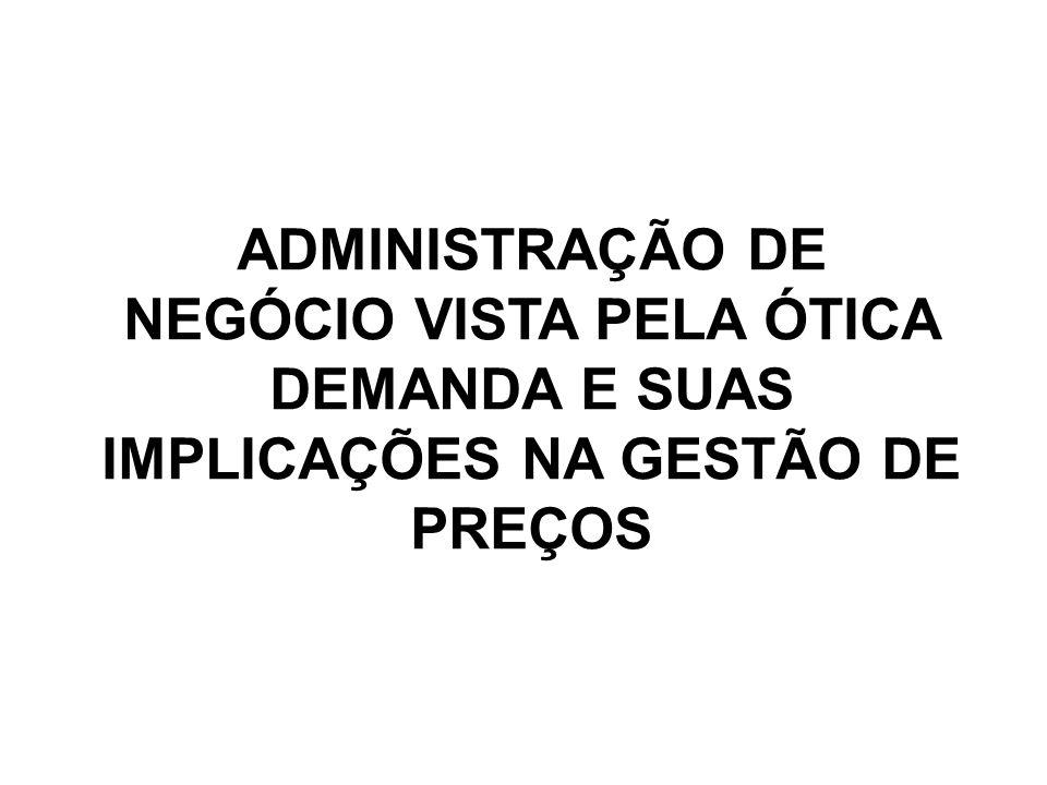 ADMINISTRAÇÃO DE NEGÓCIO VISTA PELA ÓTICA DEMANDA E SUAS IMPLICAÇÕES NA GESTÃO DE PREÇOS