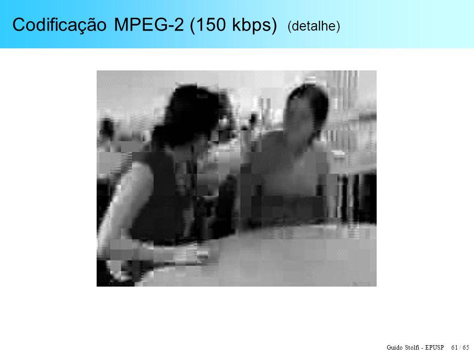 Codificação MPEG-2 (150 kbps) (detalhe)