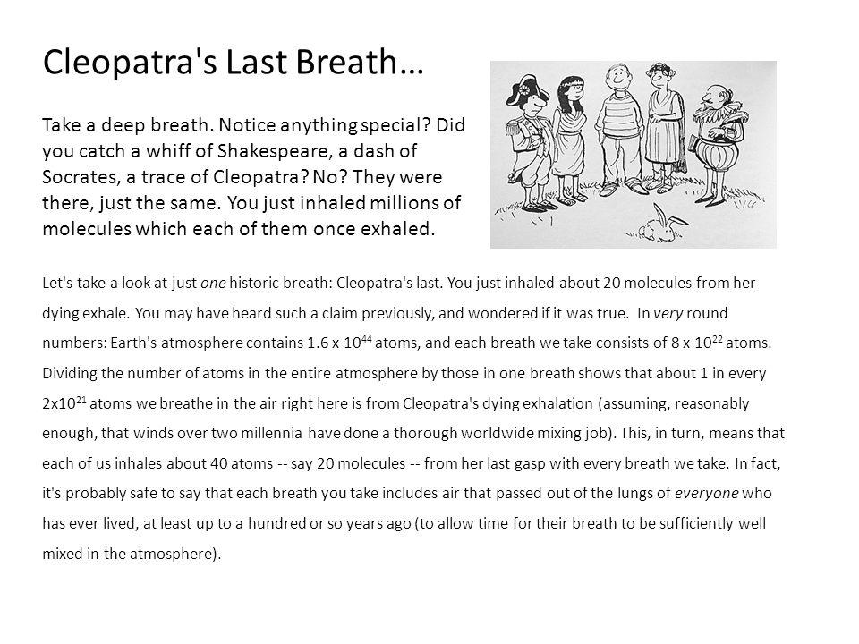 Cleopatra s Last Breath…