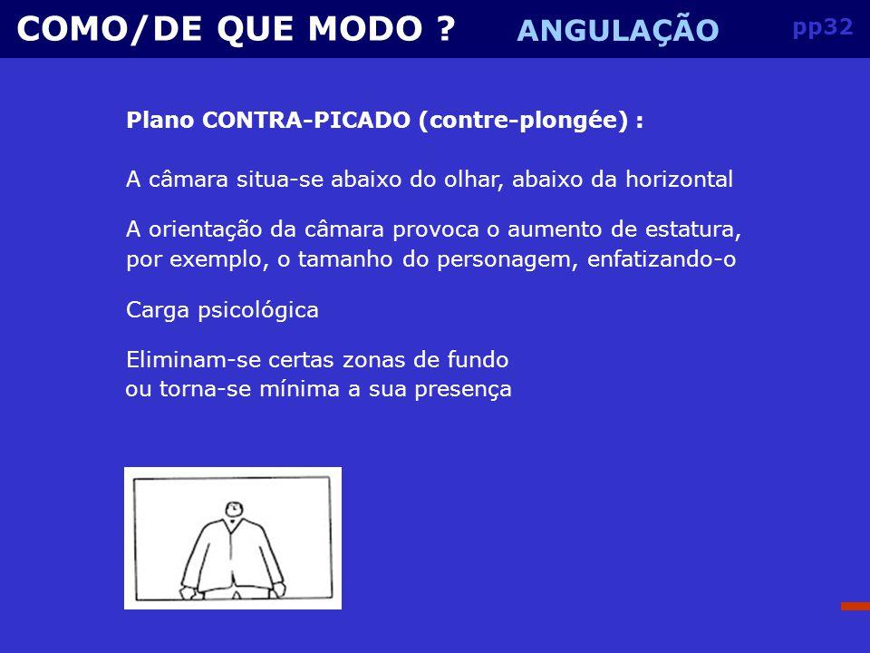 COMO/DE QUE MODO ANGULAÇÃO pp32