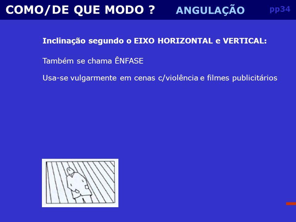 COMO/DE QUE MODO ANGULAÇÃO pp34