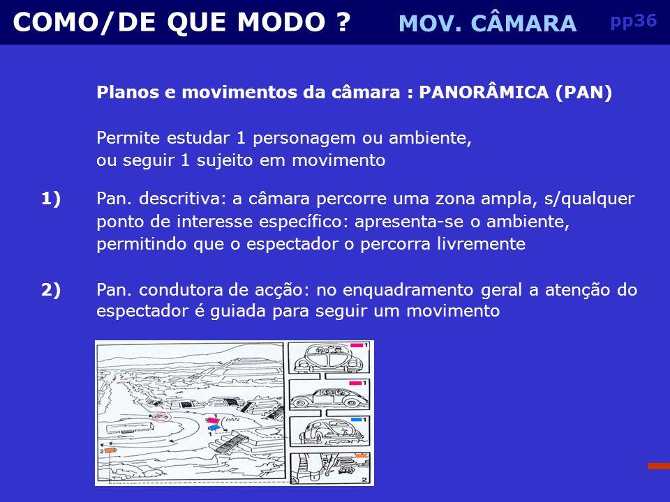 COMO/DE QUE MODO MOV. CÂMARA pp36