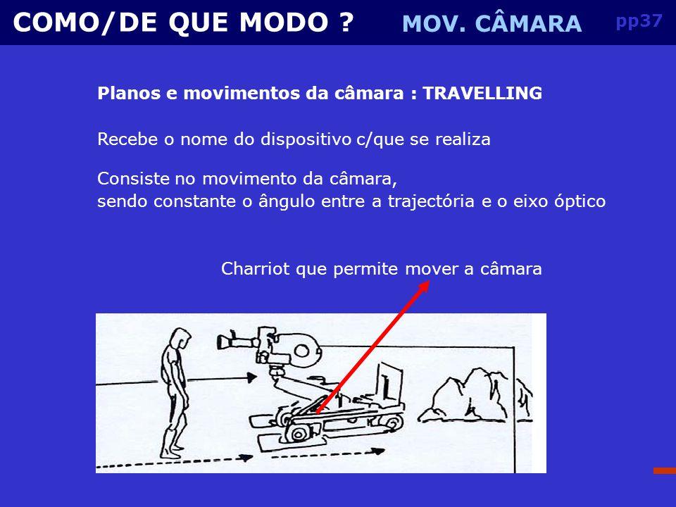 COMO/DE QUE MODO MOV. CÂMARA pp37