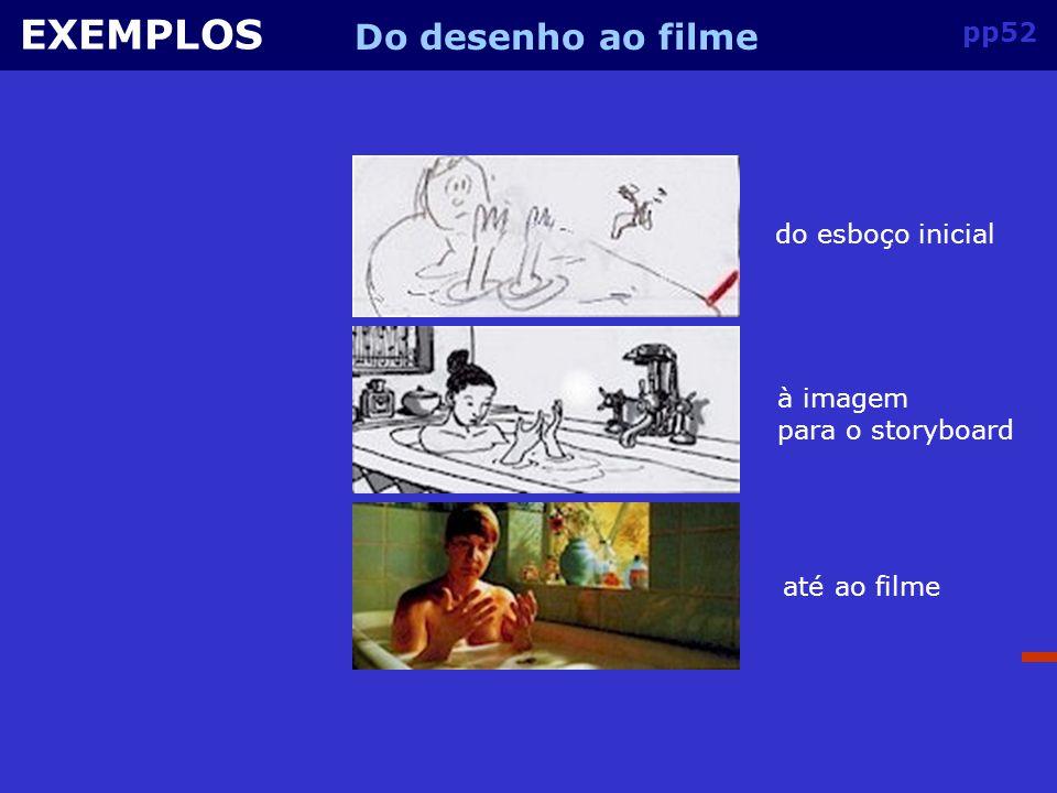 EXEMPLOS Do desenho ao filme pp52 do esboço inicial à imagem