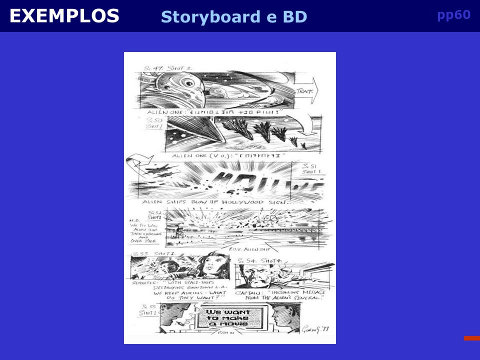 EXEMPLOS Storyboard e BD pp60