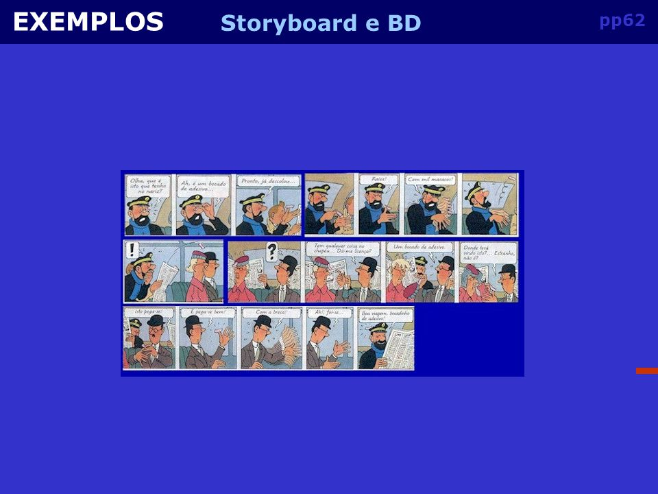 EXEMPLOS Storyboard e BD pp62